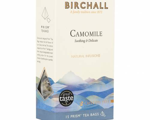 Birchall camomile tea box of 15 pyramid bags