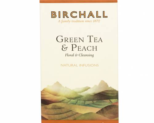 Birchall green tea with peach