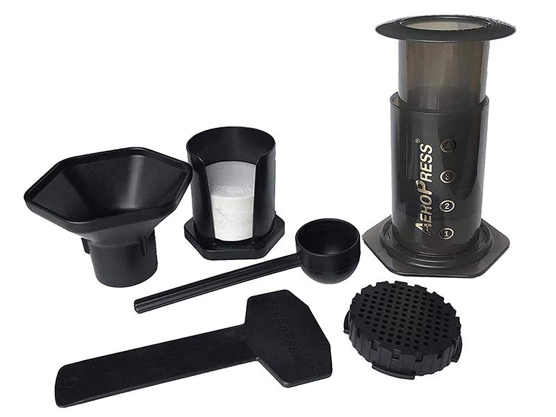 Aeropress coffee brewing kit
