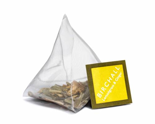 Pyramid tea bag lemongrass and ginger