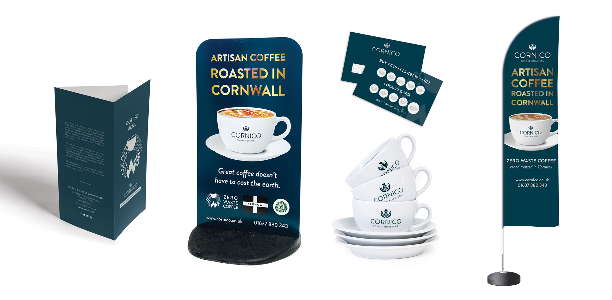 Point of sale items from Cornico Coffee