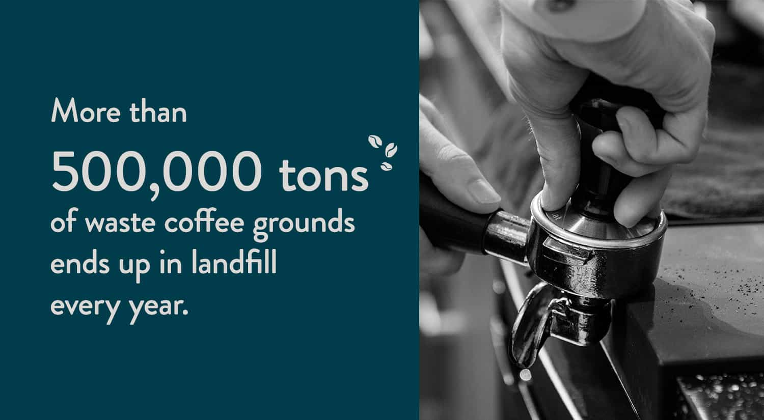 More than 500,000 tons of waste coffee grounds ends up in landfill every year.